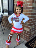 New York Giants Football Tunic, Legwarmers and Hairbow