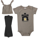 Knight in Training Onesie, Legwarmers and Hat Set