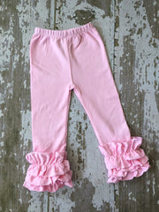 Light Pink Leggings with Ruffles