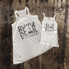 Copy of Mama Bear Teepee Mommy + Me Tank Set