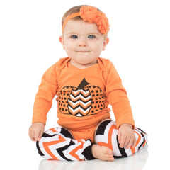 Girl Halloween Onesie, Legwarmers and Headband Set