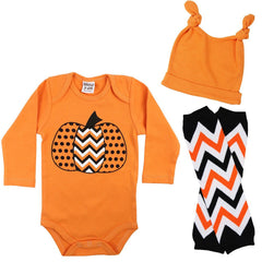 Boy Halloween Onesie, Legwarmers and Hat Set