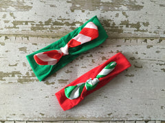 Red and Green Baby Knot Headband