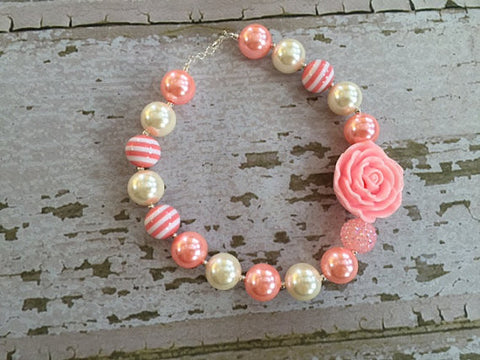 Sweet Pinks and Cream Necklace