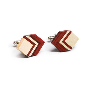 Wooden Tie Clip And Cufflink Set - Eighteen - Bug Wooden Accessories - 1