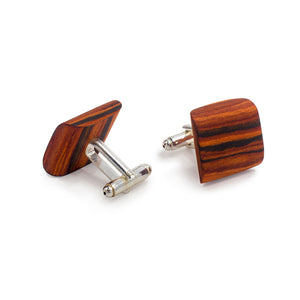 Classic Bow Tie And Cufflink Set - Rosewood - Bug Wooden Accessories - 1