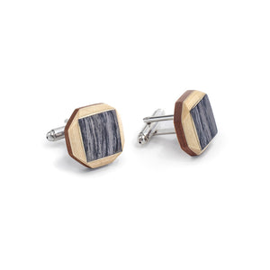 Cufflinks - Tweed - Bug Wooden Accessories - 1
