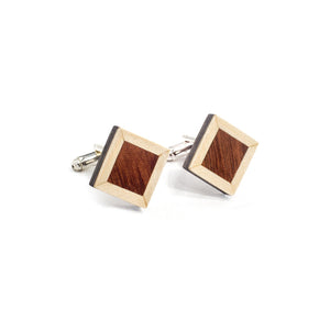 Cufflinks - Tweed 2 - Bug Wooden Accessories - 1
