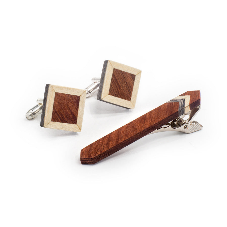 Tie Clip and Cufflink Set