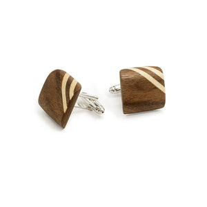 Bow Tie And Cufflink Set - Walnut - Bug Wooden Accessories - 1