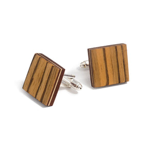 Cufflinks - Zebrawood - Bug Wooden Accessories - 1