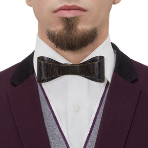 Classic Bow Tie - Black Oak - Bug Wooden Accessories - 1