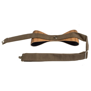 Classic Bow Tie - Satin Walnut - Bug Wooden Accessories - 1