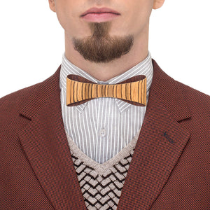 Classic Bow Tie - Zebrawood - Bug Wooden Accessories - 1