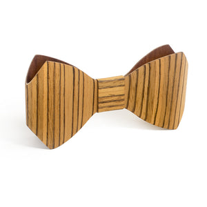 Bow Tie - Zebrawood - Bug Wooden Accessories - 1
