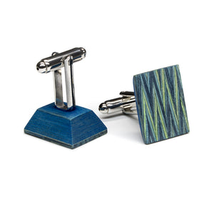 Wooden Flask And Cufflinks - Code Blue - Bug Wooden Accessories - 1