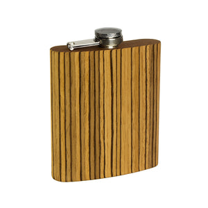 Wooden Flask - Zebrawood