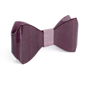 Bow Tie - Violet and Purple - Bug Wooden Accessories - 2