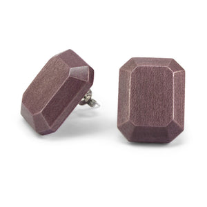 Wooden Earrings - Gemstone Light