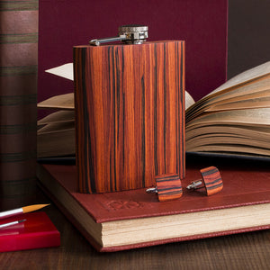 Wooden Flask - Rosewood