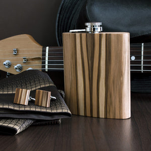 Wooden Flask - Satin Walnut - Bug Wooden Accessories - 1