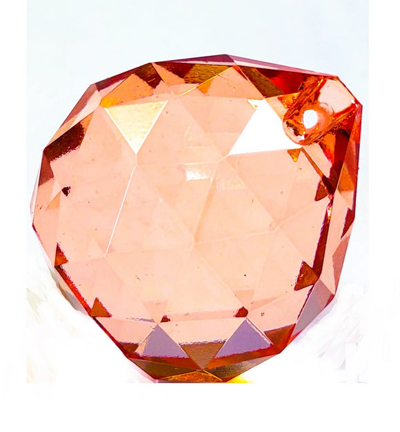 Light Peach Chandelier Crystal Faceted Ball Prism - ChandelierDesign