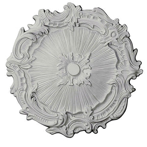 "Farrah White Ceiling Medallion, 16.75"" Shabby Chic - ChandelierDesign"
