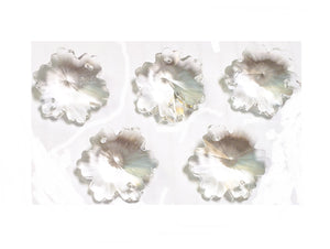 Clear Snowflake Chandelier Crystals, 30mm Beads Pack of 5 - ChandelierDesign