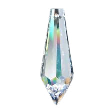 5 Clear 38mm Icicle Lead Crystal Chandelier Prism Asfour #401 - ChandelierDesign