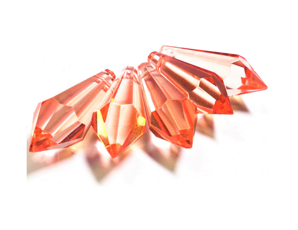 Light Peach Icicle Chandelier Crystals, Pendants Pack of 5 - ChandelierDesign