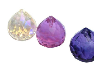 Lilac Violet and Iridescent Chandelier Crystals Faceted Ball Pack of 3 - ChandelierDesign