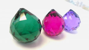Teal Violet and Fuchsia Chandelier Crystals Faceted Ball Pack of 3 - ChandelierDesign