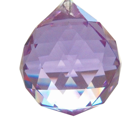30mm Lilac Chandelier Crystal Faceted Ball Prism - ChandelierDesign