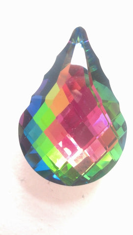 63mm French Chandelier Crystal Prism Pendalogue Vitrail - ChandelierDesign