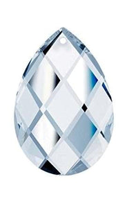 Clear Diamond Cut Teardrop Chandelier Crystals, Asfour Lead Crystal #874 Pack of 5 - ChandelierDesign