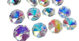 Iridescent AB 14mm Octagon Beads Chandelier Crystals 2 Holes - ChandelierDesign
