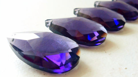 violet teardrop chandelier prisms crystals