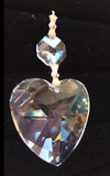 Clear Heart Shaped Chandelier Crystals, Asfour Lead Crystal Heart Ornaments #870 - Pack of 5 - ChandelierDesign