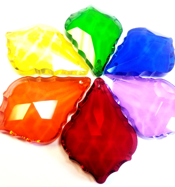 Rainbow Color 50mm French Cut Chandelier Crystals Pack of 6 - ChandelierDesign