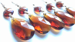 Teardrop Chandelier Crystal Ornament Amber Prism 38mm - ChandelierDesign