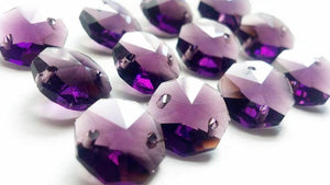 Amethyst Purple 14mm Octagon Beads Chandelier Crystals 2 Holes - ChandelierDesign