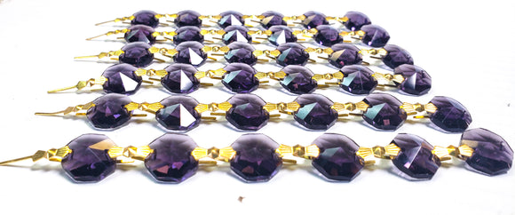 Amethyst Purple Chandelier Crystal Garland Yard of Prisms - ChandelierDesign