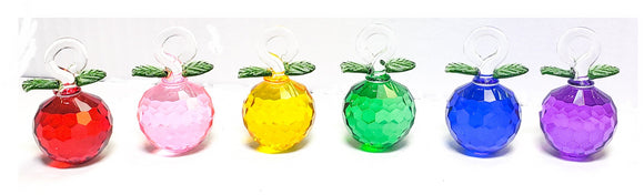 Murano Style Glass Apples for Chandeliers 30mm Fruit Ornaments - ChandelierDesign