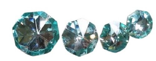 Metallic Aquamarine Octagon Beads 30mm Chandelier Crystals, Pack of 5 - ChandelierDesign