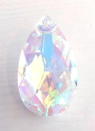 38mm AB Iridescent Asfour Teardrop Chandelier Prism 30% Lead Crystal #872