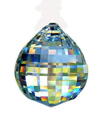 40mm #740 Clear Disco Ball Chandelier Crystal Prism Asfour 30% Lead Crystal - ChandelierDesign