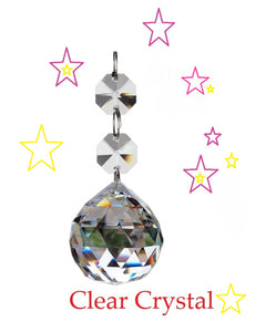 Clear Faceted Chandelier Ball Ornament, Gorgeous Lead Crystal - ChandelierDesign