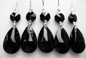 Black Teardrop Chandelier Crystals Ornaments - ChandelierDesign