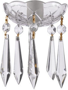 Clear Crystal Bobeche with 80mm Icicle Crystals for Chandeliers - ChandelierDesign