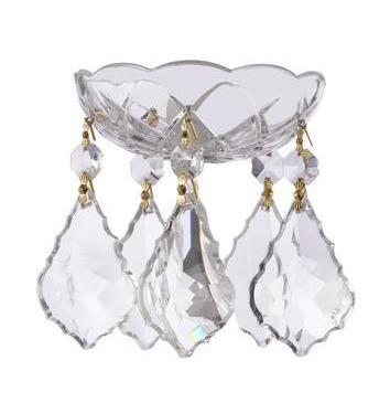 Clear Crystal Bobeche with French Crystals for Chandeliers Asfour Lead Crystal - ChandelierDesign